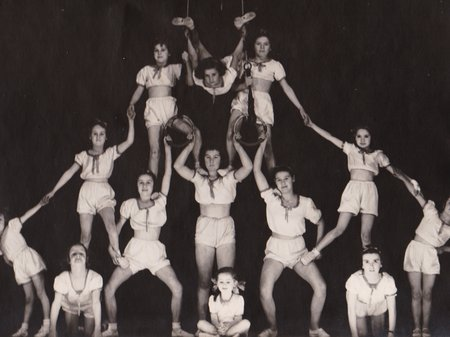 Colosseum - Image of the Queenstown gymnastic troupe 'The Brite Lights' Circa 1940, courtesy of The Galley Museum, Queenstown